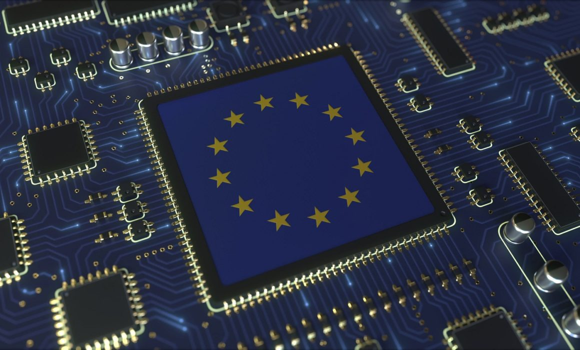 Flag,Of,The,Eu,On,The,Operating,Chipset.,European,Information